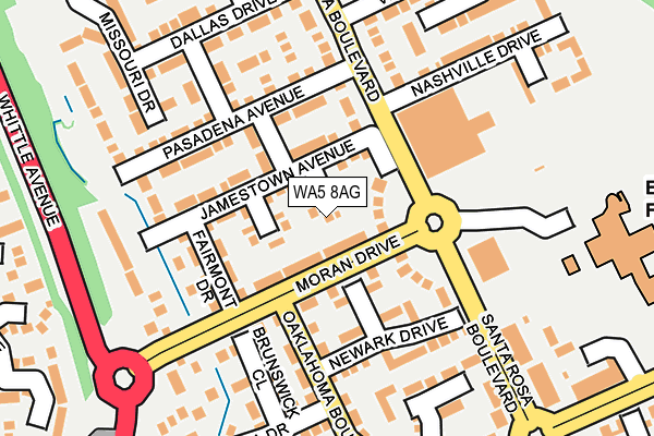 WA5 8AG map - OS OpenMap – Local (Ordnance Survey)