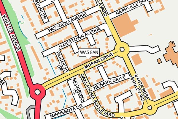 WA5 8AN map - OS OpenMap – Local (Ordnance Survey)