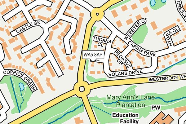 WA5 8AP map - OS OpenMap – Local (Ordnance Survey)