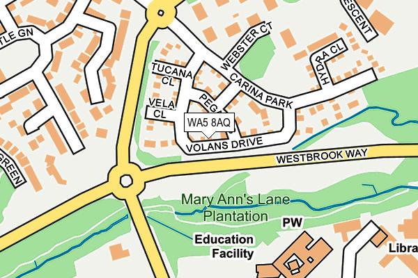 WA5 8AQ map - OS OpenMap – Local (Ordnance Survey)