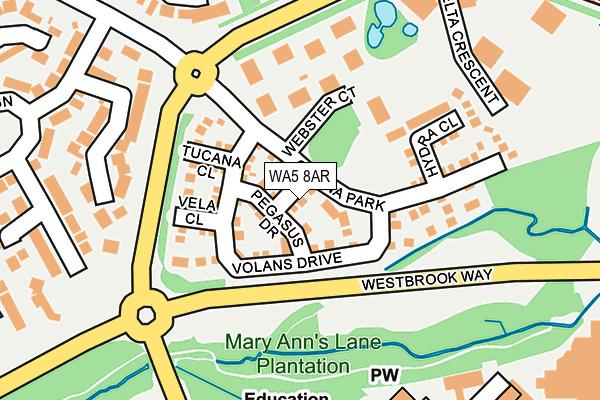 WA5 8AR map - OS OpenMap – Local (Ordnance Survey)