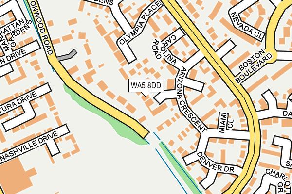 WA5 8DD map - OS OpenMap – Local (Ordnance Survey)