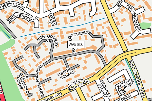WA5 8DJ map - OS OpenMap – Local (Ordnance Survey)