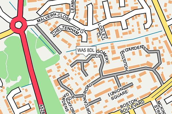 WA5 8DL map - OS OpenMap – Local (Ordnance Survey)