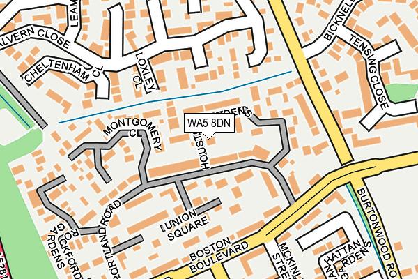 WA5 8DN map - OS OpenMap – Local (Ordnance Survey)