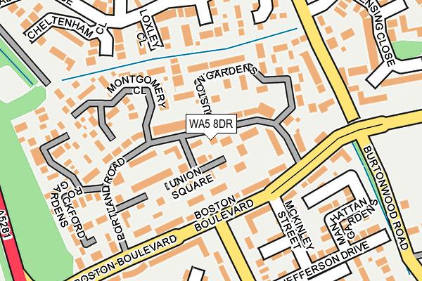 WA5 8DR map - OS OpenMap – Local (Ordnance Survey)