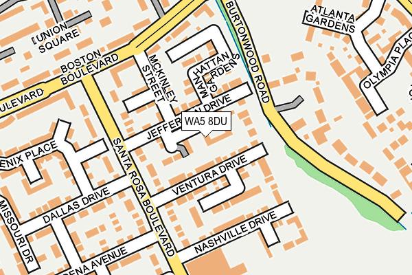 WA5 8DU map - OS OpenMap – Local (Ordnance Survey)