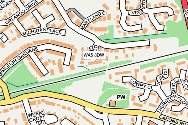 WA5 8DW map - OS OpenMap – Local (Ordnance Survey)