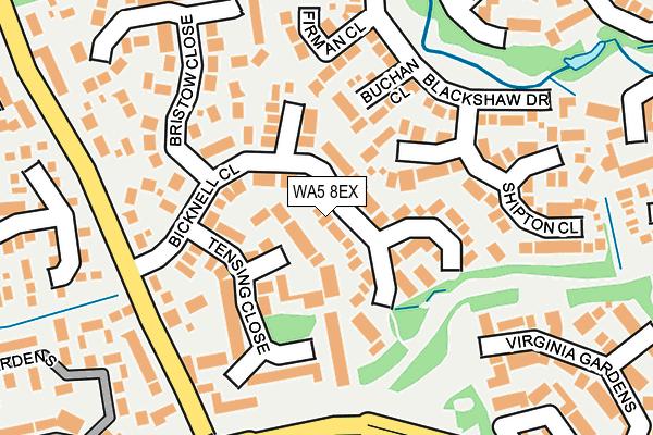 WA5 8EX map - OS OpenMap – Local (Ordnance Survey)