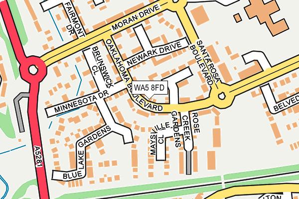 WA5 8FD map - OS OpenMap – Local (Ordnance Survey)