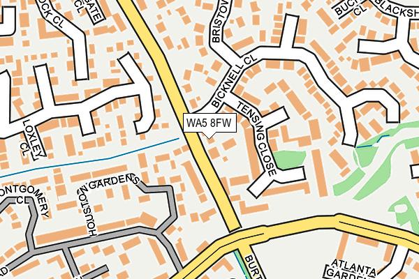 WA5 8FW map - OS OpenMap – Local (Ordnance Survey)