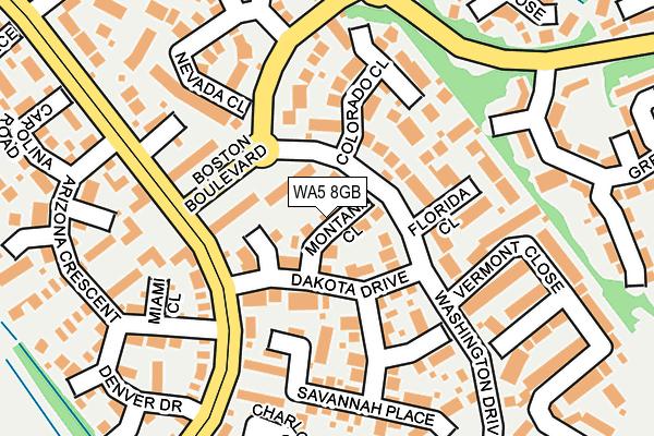 WA5 8GB map - OS OpenMap – Local (Ordnance Survey)
