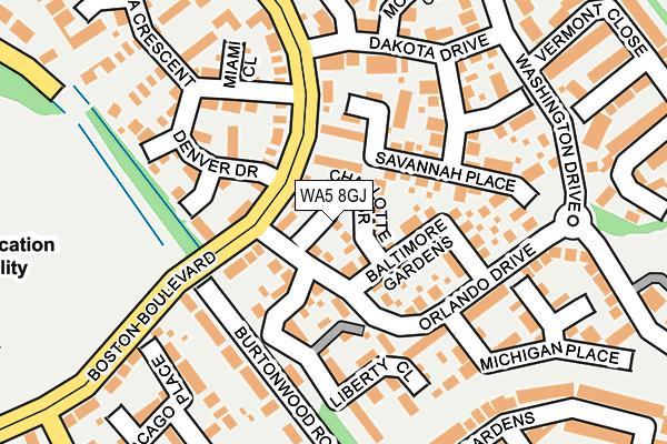 WA5 8GJ map - OS OpenMap – Local (Ordnance Survey)