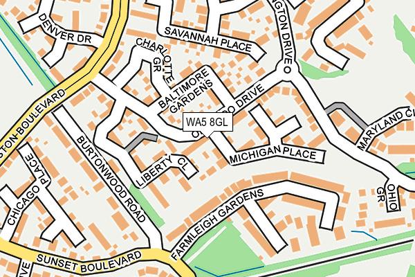 WA5 8GL map - OS OpenMap – Local (Ordnance Survey)