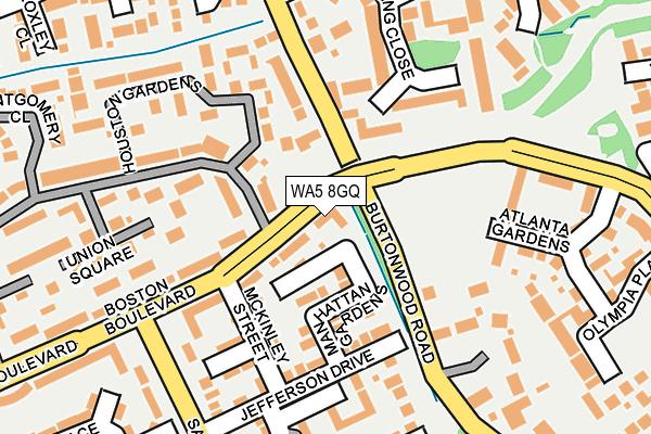 WA5 8GQ map - OS OpenMap – Local (Ordnance Survey)