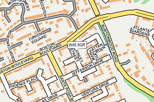 WA5 8GR map - OS OpenMap – Local (Ordnance Survey)