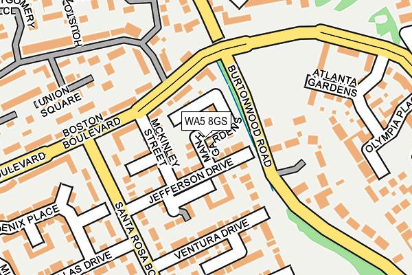 WA5 8GS map - OS OpenMap – Local (Ordnance Survey)