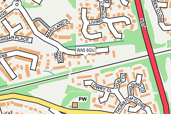 WA5 8GU map - OS OpenMap – Local (Ordnance Survey)