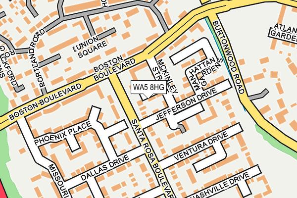 WA5 8HG map - OS OpenMap – Local (Ordnance Survey)