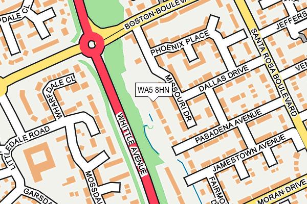 WA5 8HN map - OS OpenMap – Local (Ordnance Survey)