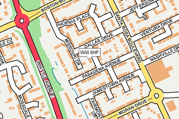 WA5 8HP map - OS OpenMap – Local (Ordnance Survey)