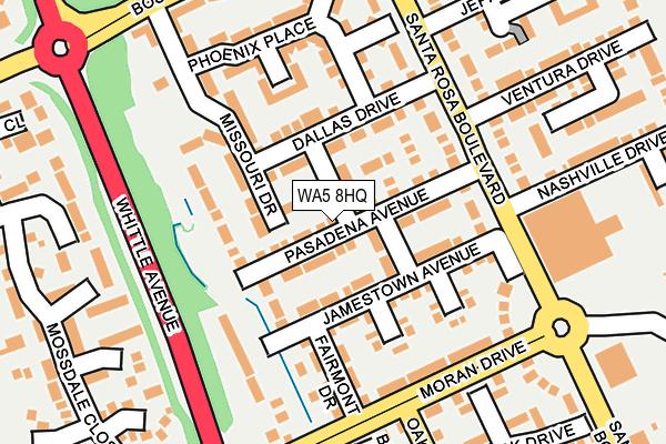 WA5 8HQ map - OS OpenMap – Local (Ordnance Survey)