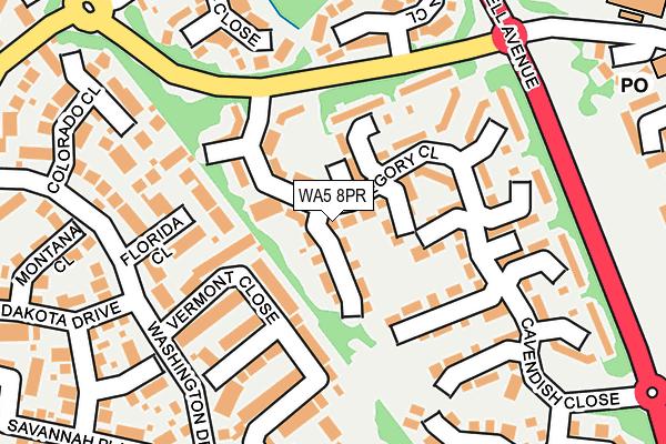WA5 8PR map - OS OpenMap – Local (Ordnance Survey)
