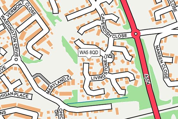 WA5 8QD map - OS OpenMap – Local (Ordnance Survey)
