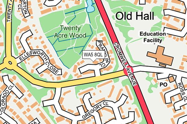 WA5 8QL map - OS OpenMap – Local (Ordnance Survey)