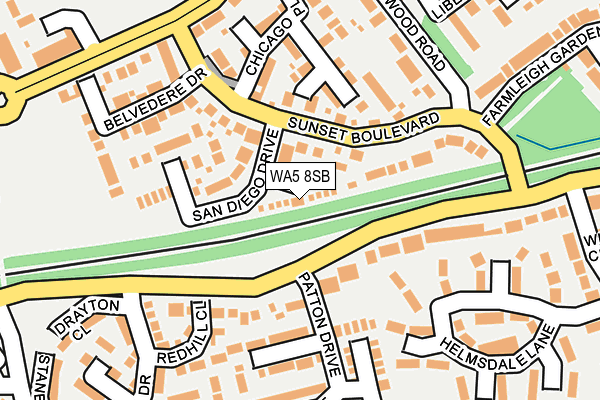 WA5 8SB map - OS OpenMap – Local (Ordnance Survey)
