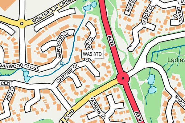 WA5 8TD map - OS OpenMap – Local (Ordnance Survey)