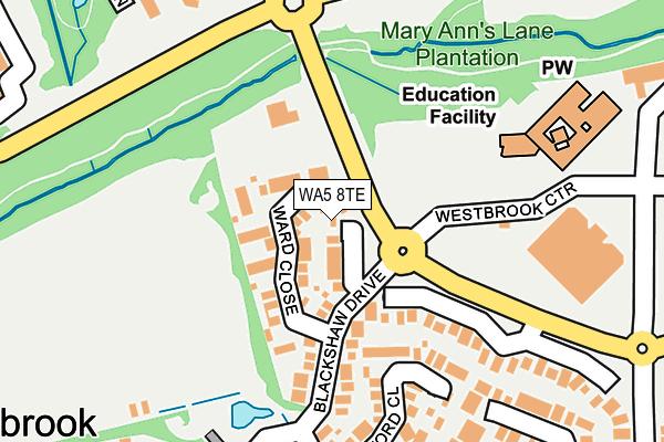 WA5 8TE map - OS OpenMap – Local (Ordnance Survey)