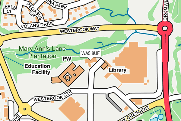 WA5 8UF map - OS OpenMap – Local (Ordnance Survey)