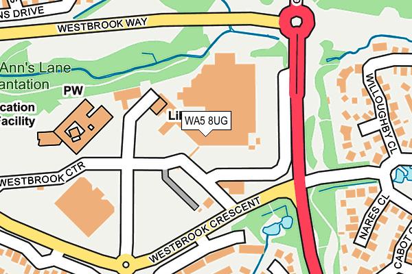 WA5 8UG map - OS OpenMap – Local (Ordnance Survey)