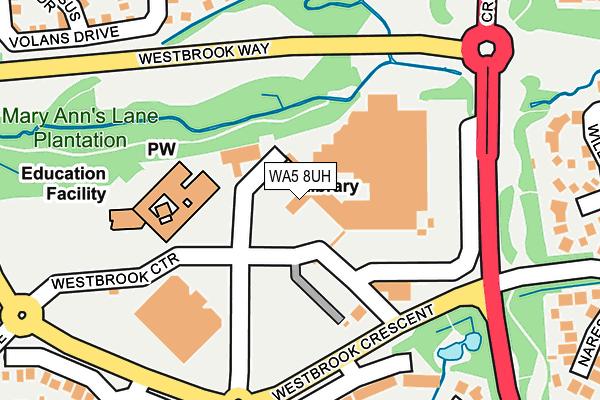 WA5 8UH map - OS OpenMap – Local (Ordnance Survey)