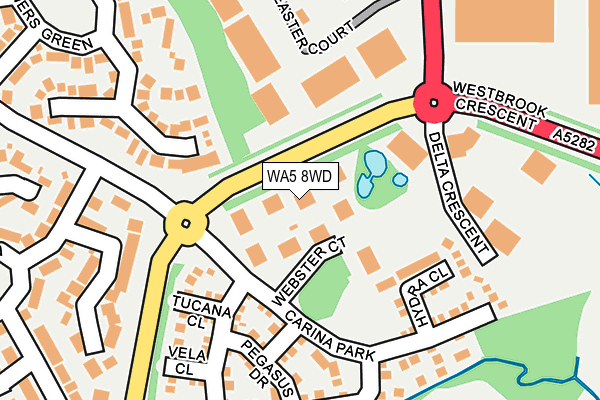 WA5 8WD map - OS OpenMap – Local (Ordnance Survey)