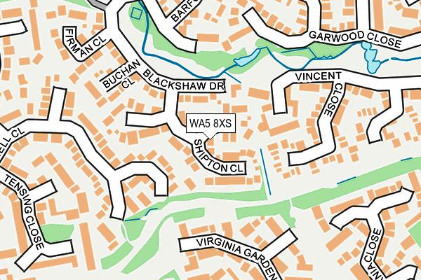 WA5 8XS map - OS OpenMap – Local (Ordnance Survey)