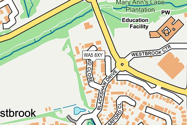 WA5 8XY map - OS OpenMap – Local (Ordnance Survey)