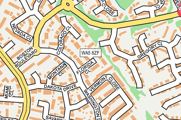 WA5 8ZF map - OS OpenMap – Local (Ordnance Survey)