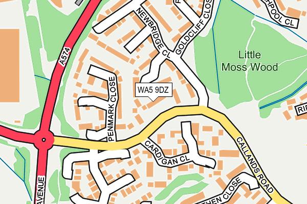 WA5 9DZ map - OS OpenMap – Local (Ordnance Survey)