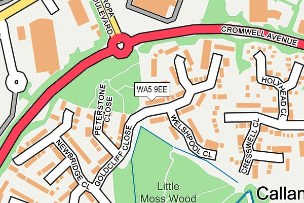 WA5 9EE map - OS OpenMap – Local (Ordnance Survey)