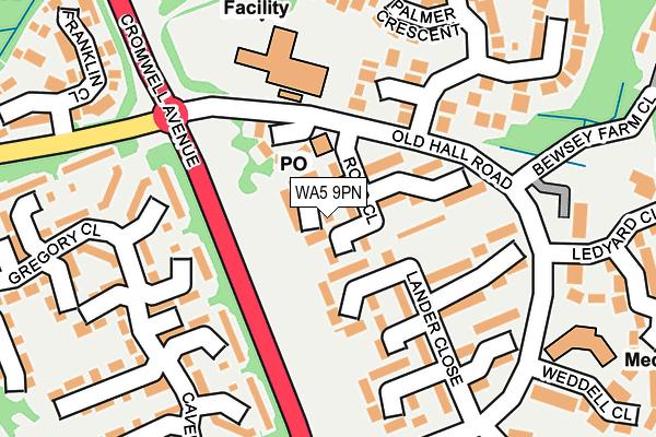 WA5 9PN map - OS OpenMap – Local (Ordnance Survey)
