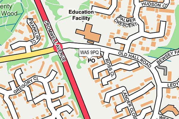 WA5 9PQ map - OS OpenMap – Local (Ordnance Survey)