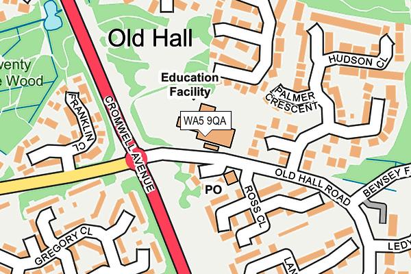 WA5 9QA map - OS OpenMap – Local (Ordnance Survey)