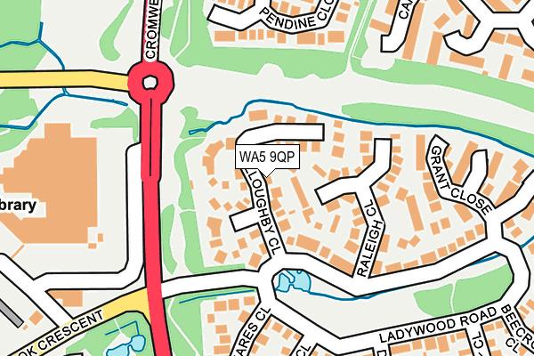 WA5 9QP map - OS OpenMap – Local (Ordnance Survey)