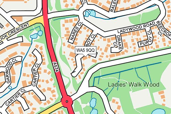 WA5 9QQ map - OS OpenMap – Local (Ordnance Survey)