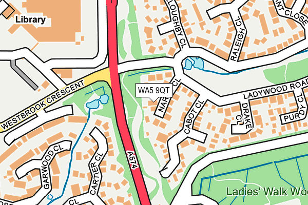 WA5 9QT map - OS OpenMap – Local (Ordnance Survey)