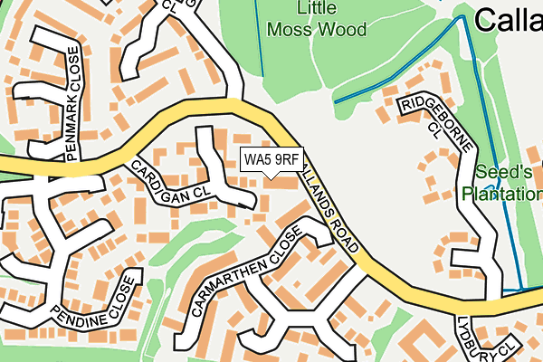 WA5 9RF map - OS OpenMap – Local (Ordnance Survey)
