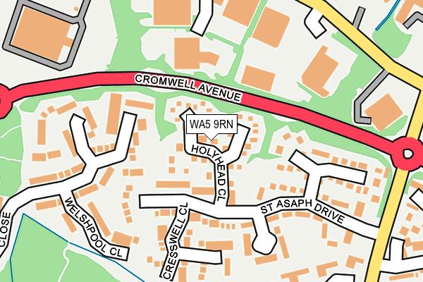 WA5 9RN map - OS OpenMap – Local (Ordnance Survey)