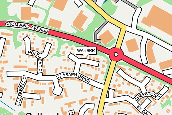 WA5 9RR map - OS OpenMap – Local (Ordnance Survey)